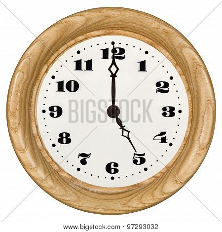 Clock Dial Isolated, On White Background
