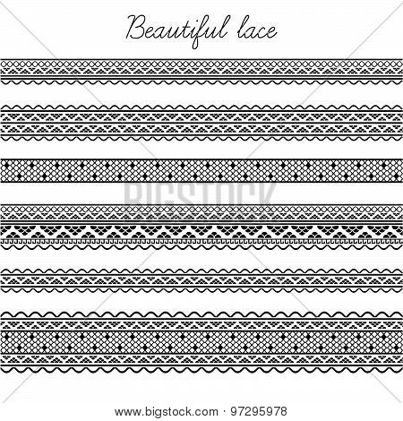 Beautiful seamless lace segments for scrapbooking, card decoration etc