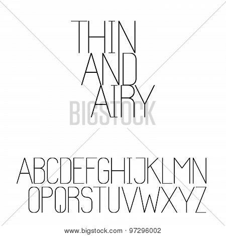 Beautiful sans serif font set