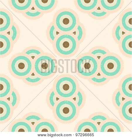 Cute seamless pattern in asian style