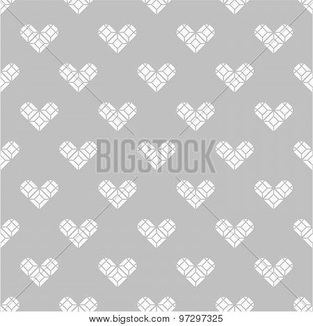 St. Valentine's Day grayscale seamless pattern