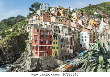Riomaggiore on the Cinque Terre Italy