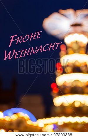 Christmas Lights Silhouette - Merry Christmas (German)
