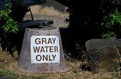 Постер, плакат: Gray Water Disposal Station At Summer Campground