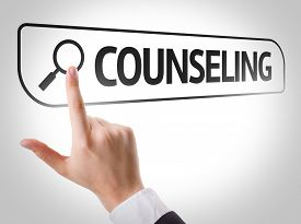 picture of counseling  - Counseling written in search bar on virtual screen - JPG