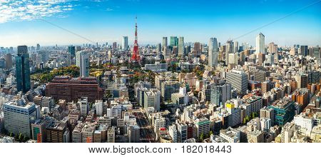 poster of Panoramic View Of Tokyo Tower, Japan