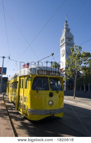 Trolley Yellow With Ferry Building