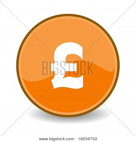 Pound Sterling Button