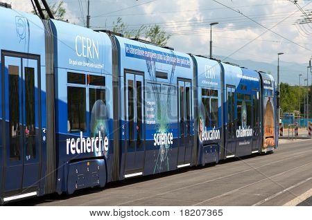 tram comes to CERN