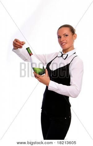 Waitress Serving Wine