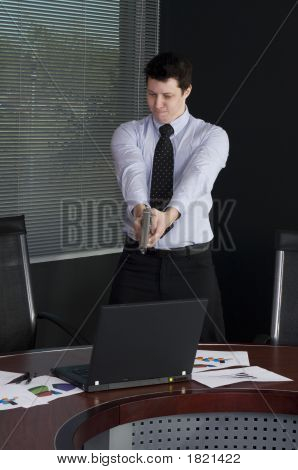 Man Shooting Computer
