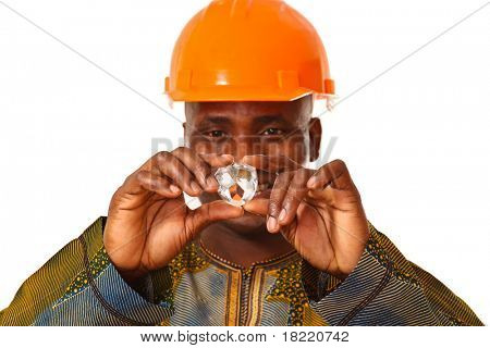 African man working in lab