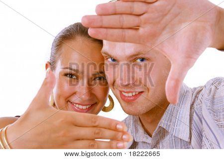 Man gesturing Hand frame