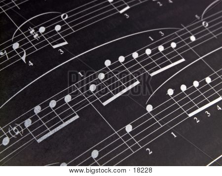 Inverted Sheet Music