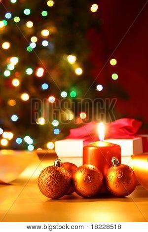 Vela de Navidad con bulbos y gif