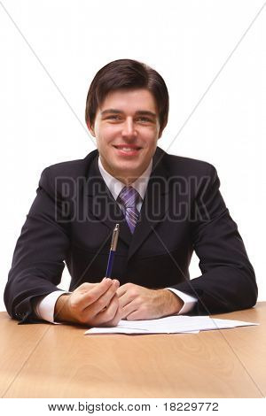 Businessmen with contract
