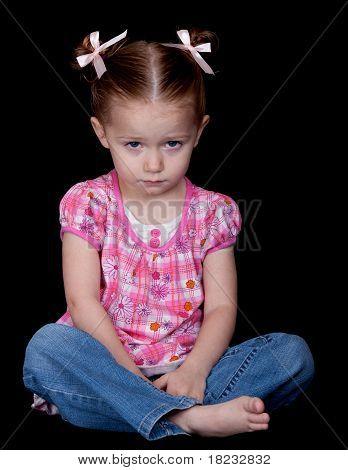 Sad And Sitting