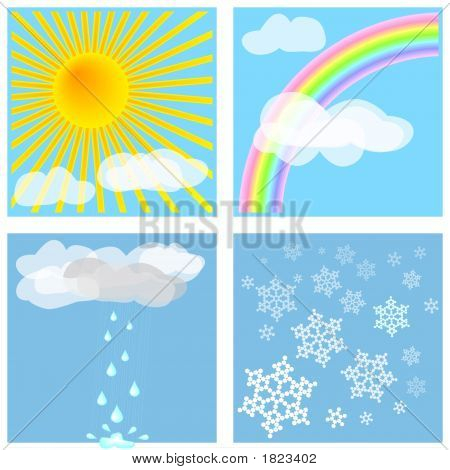 Four Different Weather Types