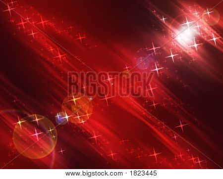 Warm Night Stars Background