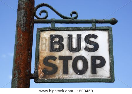 Ornate Bus Stop Sign