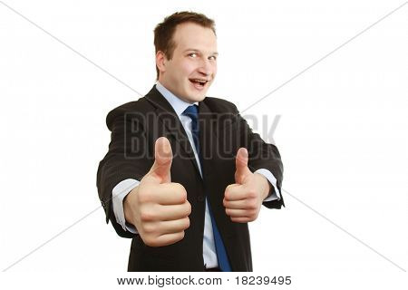 A happy businessman