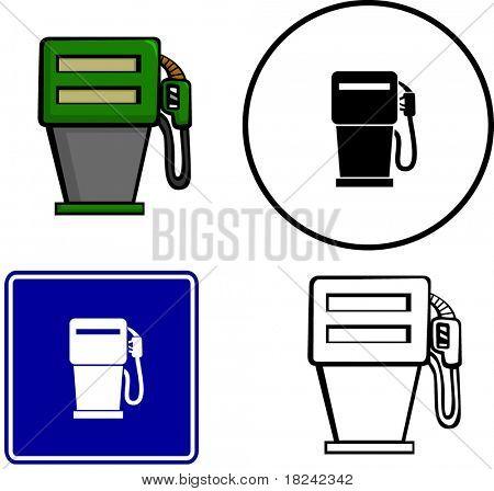 símbolo y signo de ilustración de bomba de gas