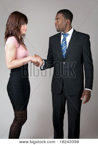 Business Man Meeting A Colleague