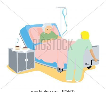 Sick Elderly Client