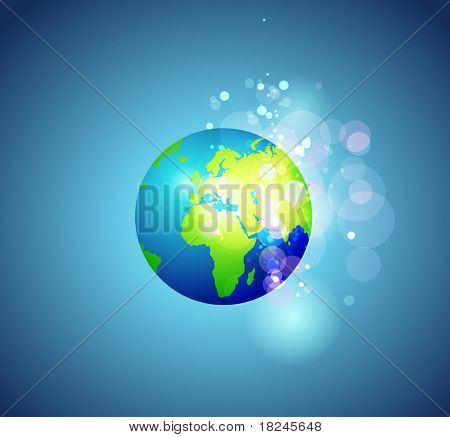 Modern earth background