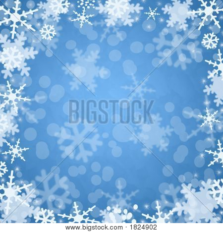 Winter Blue Background Snowflake