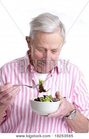 Senior Man With Healthy Salad