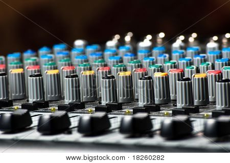 Sliders Of A Sound Mixer