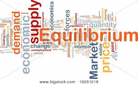 Background concept wordcloud illustration of equilibrium