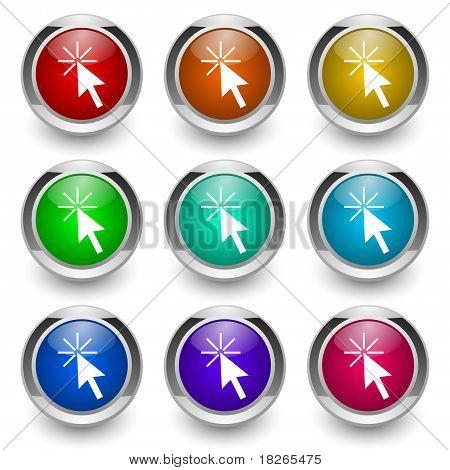 cursor button set