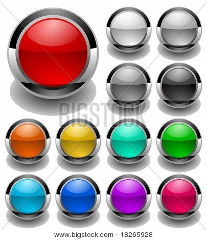 colored button set