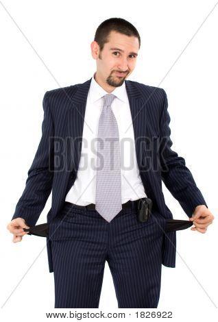 Hombre de negocios en quiebra