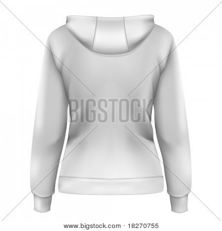 Vector. Women's hoodie (back design)