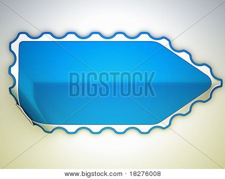 Jagged Blue Bent Sticker Or Label
