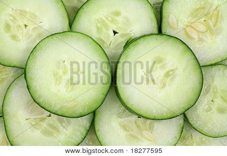 Sliced Organic Cucumbers