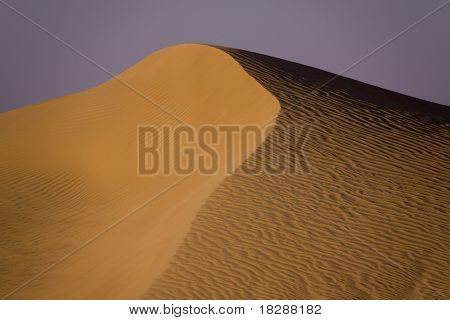 A Saharan Sand Dune At Sunset, Egypt