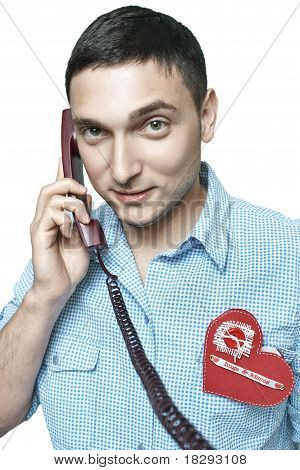 mister valentine on the phone