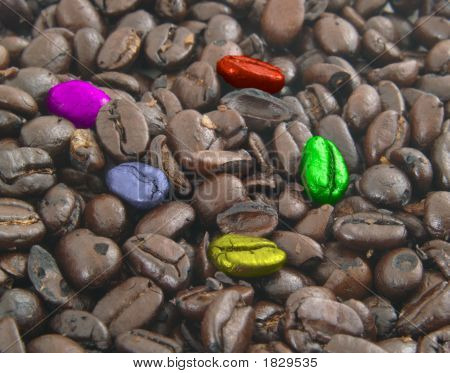 Colorful Coffee Beans