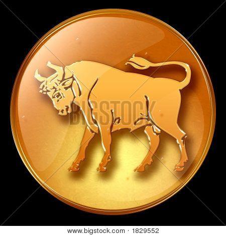 Taurus Zodiac Button Icon