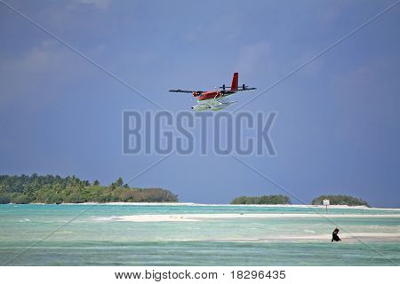 Twin Otter Landing At A Resort