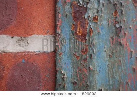 Rusted Blue Paint