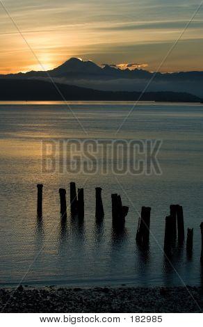 Sunrise Over Cascade Mountains