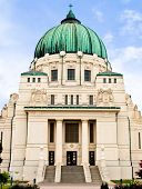 Otto Wagner Art Nouveau / Jugendstilkirche on the Vienna Central cemetery poster