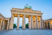 Berlin Brandenburg Gate In Twilight, Germany poster