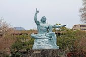 Peace Statue In Peace Park, Nagasaki, Japan poster