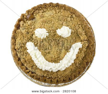 Smiley Face Apple Pie